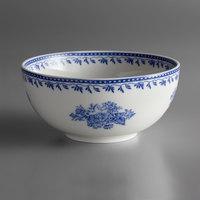 Oneida L6703061730 Lancaster Garden 7 oz. Blue Porcelain Bowl - 48/Case