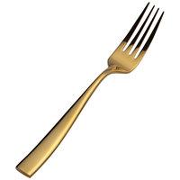 Bon Chef S3017G Manhattan 8 3/8 inch Extra Heavy Weight Gold Stainless Steel European Dinner Fork - 12/Pack