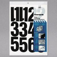 Chartpak 01193 Black Adhesive 4 inch Vinyl Helvetica Numbers - 23/Pack