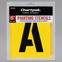 Chartpak 01575 Manila 6 inch A-Z/0-9 Painting Stencils - 35/Pack