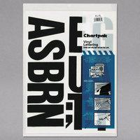 Chartpak 01175 Black Adhesive 4 inch Vinyl Helvetica Letters - 58/Pack