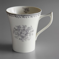 Oneida L6703068560 Lancaster Garden 13 oz. Grey Porcelain Mug - 36/Case