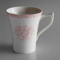 Oneida L6703052560 Lancaster Garden 13 oz. Pink Porcelain Mug - 36/Case