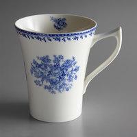 Oneida L6703061560 Lancaster Garden 13 oz. Blue Porcelain Mug - 36/Case