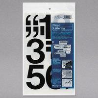 Chartpak 01170 Black Adhesive 3 inch Vinyl Helvetica Numbers - 10/Pack