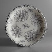 Oneida L6703068152 Lancaster Garden 10 1/2 inch Grey Porcelain Plate - 24/Case