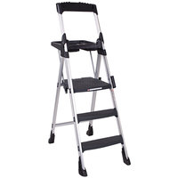 Cosco 11003ABL1 Worlds Greatest Step Stool Aluminum 3-Step Folding Step Stool with Work Platform