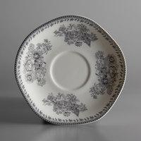 Oneida L6703068500 Lancaster Garden 6 inch Grey Porcelain Saucer - 48/Case