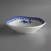 Oneida L6703061942 Lancaster Garden 1 oz. Blue Porcelain Sauce Dish - 72/Case