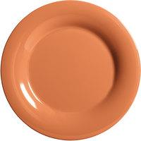 GET WP-9-PK 9 inch Diamond Harvest Pumpkin Wide Rim Plate - 24/Case