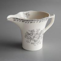 Oneida L6703068807 Lancaster Garden 6 oz. Grey Porcelain Creamer - 36/Case