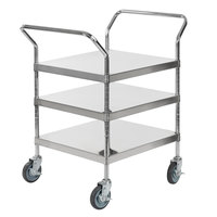 Regency Stainless Steel Three Shelf Utility Cart - 24 inch x 24 inch x 37 inch
