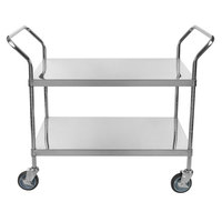 Regency Stainless Steel Two Shelf Utility Cart - 36 inch x 24 inch x 37 inch