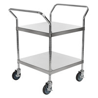 Regency Stainless Steel Two Shelf Utility Cart - 24 inch x 24 inch x 37 inch