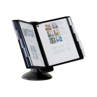 Durable 553901 SHERPA Black Borders Letter Sized 10 Panel Motion Desktop Reference System