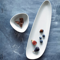 Oneida R4700000440 Mood 16 1/4 inch Bright White Porcelain Tray - 12/Case