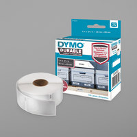 DYMO 1976200 LabelWriter 1 inch x 3 1/2 inch White Self-Adhesive Shelving Label - 100/Roll