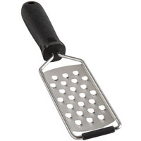 10 1/8 inch Stainless Steel Extra Coarse Grater with Black Handle