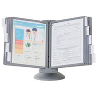 Durable 553937 SHERPA Gray Borders Letter Sized 10 Panel Motion Desktop Reference System