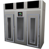 Maturmeat 100 inch Glass Door Stainless Steel Meat Aging Cabinet - 880 lb. / 400 kg., 380V, 5150W