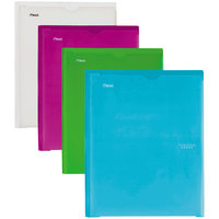 Mead 38130 Letter Size Assorted Pastel Color 2 Pocket Folder with Prongs - 4/Set