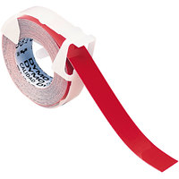 DYMO 520102 3/8 inch x 12' Red Glossy Embosser Label Tape