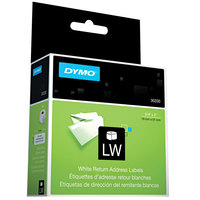 DYMO 30330 LabelWriter 3/4 inch x 2 inch White Return Address Permanent Self-Adhesive Label Roll - 500/Roll