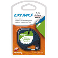 DYMO 10697 LetraTag 1/2 inch x 13' White Paper Label Tape - 2/Pack
