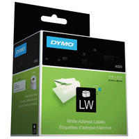 DYMO 30320 LabelWriter 1 1/8 inch x 3 1/2 inch White Address Permanent Self-Adhesive 260-Label Roll - 2/Box