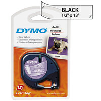 DYMO 16952 LetraTag 1/2 inch x 13' Clear Plastic Label Tape
