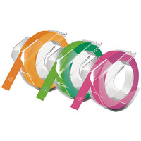 DYMO 1933353 3/8 inch x 9 13/16' Glossy Embossers Self-Adhesive Labeling Tape Roll - 3/Pack