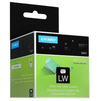 DYMO 30327 LabelWriter 1-UP 9/16 inch x 3 7/16 inch File Folder Labels Roll - 2/Box
