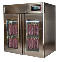 Stagionello 43 inch Glass Door Stainless Steel Meat Curing Cabinet - 132 lb. / 60 kg., 220V, 2600W