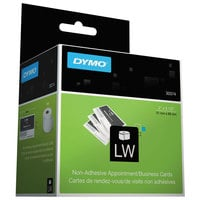 DYMO 30374 LabelWriter 2 inch x 3 1/2 inch White Business / Appointment Non-Adhesive Card Roll - 300/Roll