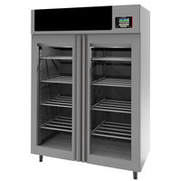 Stagionello 58 inch Glass Door Stainless Steel Meat Curing Cabinet - 440 lb. / 200 kg., 220V, 4190W