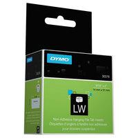 DYMO 30376 LabelWriter 9/16 inch x 2 inch White Hanging File Folder Tab Non-Adhesive Insert Roll - 260/Box