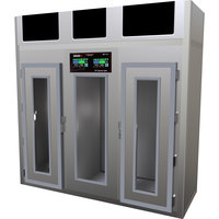 Stagionello 100 inch Glass Door Stainless Steel Meat Curing Cabinet - 880 lb. / 400 kg., 380V, 7120W