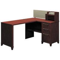 Bush 2999CSA103 Enterprise Harvest Cherry Laminate Corner Desk - 60 inch x 47 1/4 inch x 41 3/4 inch