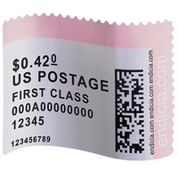 DYMO 30915 LabelWriter 1 5/8 inch x 1 1/4 inch White Postage Stamp Self-Adhesive Label Roll - 200/Roll