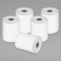 DYMO 2026404 LabelWriter 4 inch x 6 inch White Extra-Large Shipping Permanent Self-Adhesive Label Roll - 5/Pack