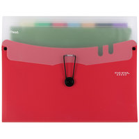 Five Star 73944 7-Pocket Expanding File with Bungee Closure - Red