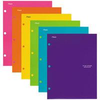 Five Star 38056 Trend Design Letter Size Assorted Color 4 Pocket Portfolio Folder   - 6/Pack
