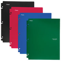 Mead 73266 Letter Size Assorted Solid Color Snap-In 2 Pocket Folders - 4/Set