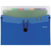 Five Star 73942 7-Pocket Expanding File with Bungee Closure - Blue