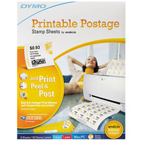DYMO 1750042 8 1/2 inch x 11 inch White Printable Postage Self-Adhesive Labels - 192/Pack