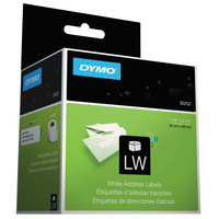 DYMO 30252 LabelWriter 1 1/8 inch x 3 1/2 inch White Address Permanent Self-Adhesive 350-Label Roll - 2/Box