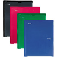 Mead 38133 Letter Size Assorted Solid Color 2 Pocket Folder with Prongs - 4/Set