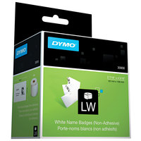 DYMO 30856 LabelWriter 2 7/16 inch x 4 3/16 inch White Name Badge Insert Non-Adhesive Label Roll - 250/Roll