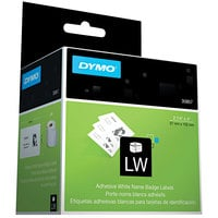 DYMO 30857 LabelWriter 2 1/4 inch x 4 inch White Self-Adhesive Name Badge Label Roll - 250/Roll
