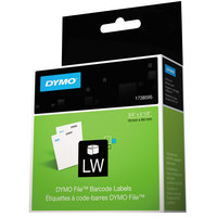 DYMO 1738595 LabelWriter 3/4 inch x 2 1/2 inch White Bar Code Permanent Self-Adhesive Label Roll - 450/Roll